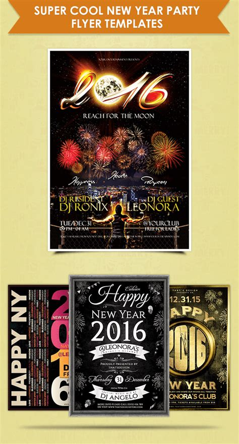 277 flyer templates for events new year 2018