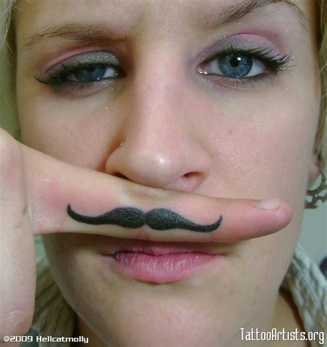 mustache tattoo on finger amazing in the world 15 grand finger mustache