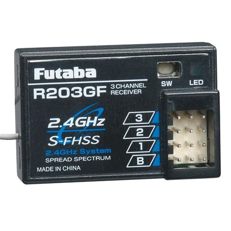 Futaba R203gf 3 Channel 2 4ghz S Fhss Receiver futaba r203gf 3 channel s fhss receiver