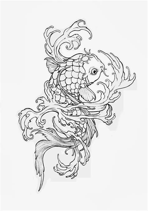 coloring page koi fish free coloring pages of koi fish