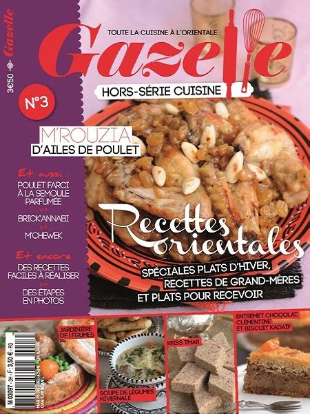 magazine gazelle cuisine gazelle cuisine n 176 3 2012 recettes orientales sp 233 ciales