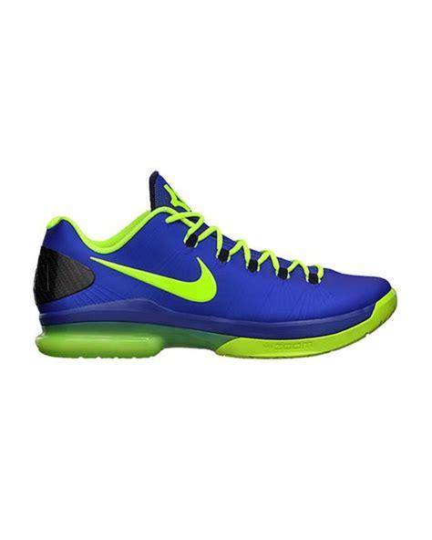 kd elite basketball shoes nike kd v elite basketball shoes in blue for save 50
