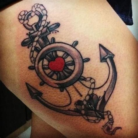 helm tattoo design helm and anchor tattoo tats are the word pinterest