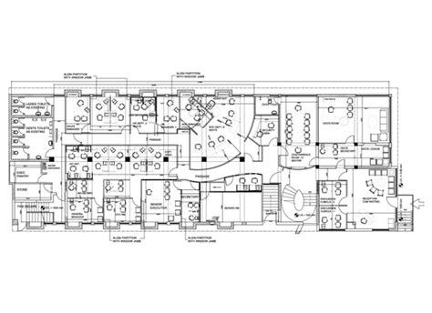 call center floor plan architect interior designer for offices call centers