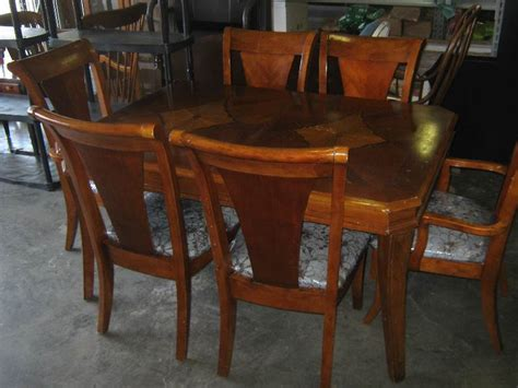 Heavy Wooden Dining Table With 6 Chairs Built In Leaf Dining Table With Built In Leaf