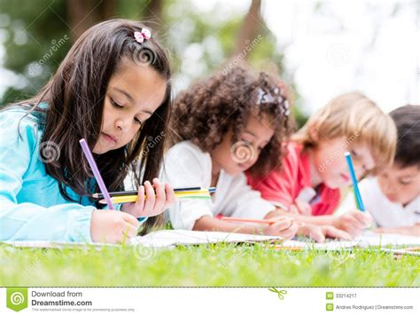 child color group of children coloring stock image image of casual