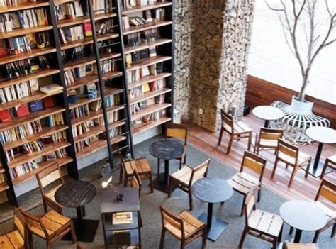 coffee shop interior design book book cafe comma korea coffee tea wine or jazz