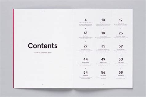 design inspiration table of contents table of contents design inspiration pinterest