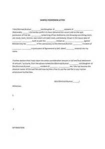 Possession Letter Format For Lease Possession Letter Format From Builder Best Template