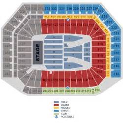 Ford Field Seat Map Z And Justin Timberlake August 06 Tickets Detroit