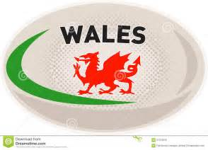 rugby ball welsh dragon stock photos image 21372633