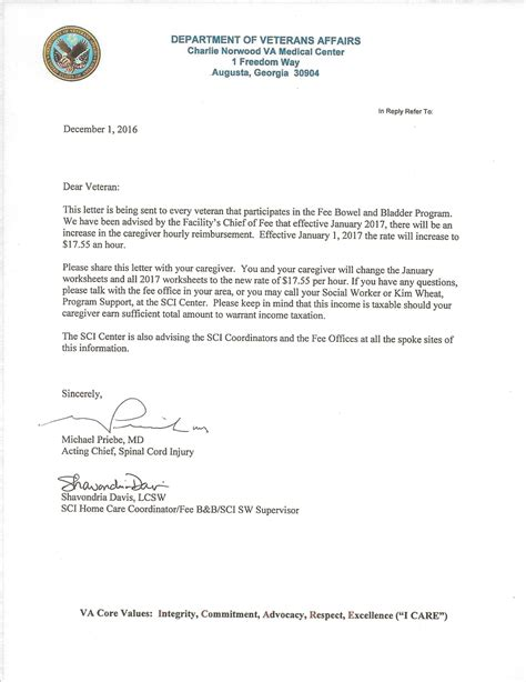Dispute Letter Of Administration new va award letter exle how to format a cover letter