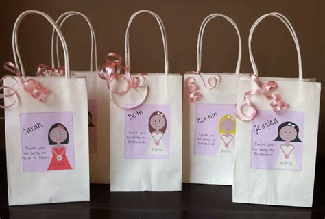 Handmade Bridesmaid Gifts - bridesmaid gift bag personalized gift bridal gift