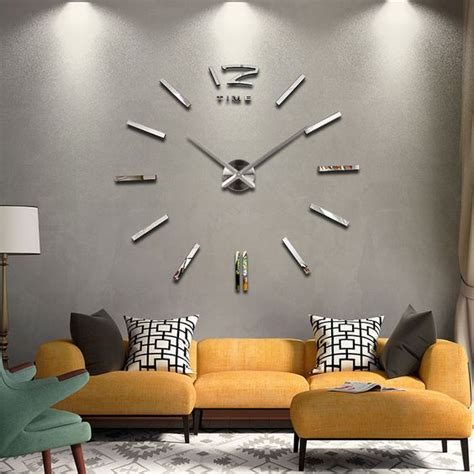 wall decor diy made this for my living room crafts new home decor wall clock european oversized living room