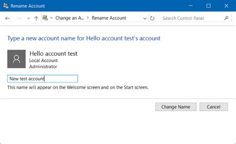 install windows 10 without microsoft account how to rename microsoft or local account in windows 10