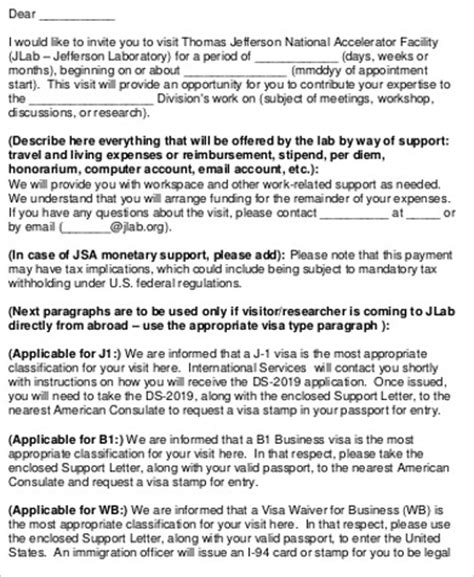 invitation letter sle for visa usa 9 sle invitation letters for visa sle templates