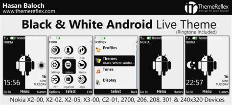 black and white for nokia x2 02 themes black white android live theme for nokia x2 00 x2 02