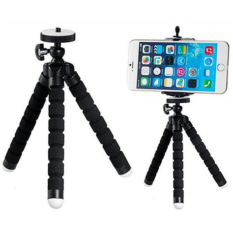 Tripod Lipat For Dslr Gopro Smartphone Fe046 3 mini sponge octopus tripod for iphone samsung xiaomi huawei smartphone tripod stand
