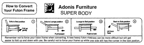 futon company instructions futon company instructions
