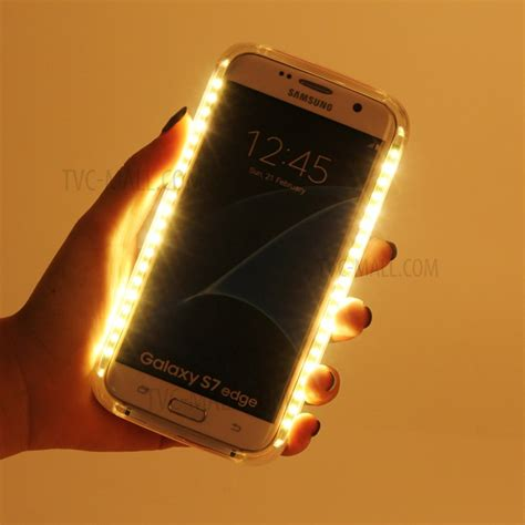 Led Samsung Galaxy V led flashlight luminous selfie pc for samsung galaxy s6 edge g925 black tvc mall