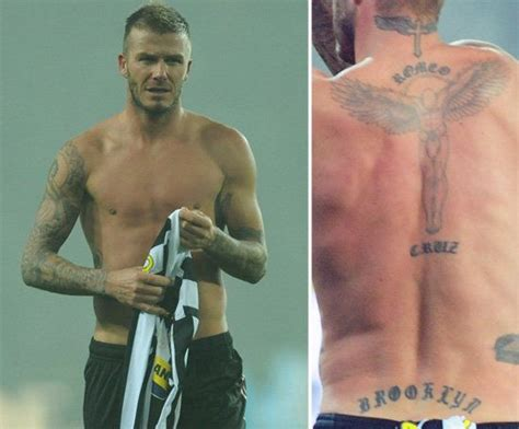 a guide to all of beckham s tattoos 25 best ideas about david beckham back on