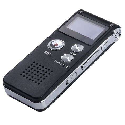 digital sound voice recorder 8gb rechargeable steel dictaphone mp3 player record 5075684333008