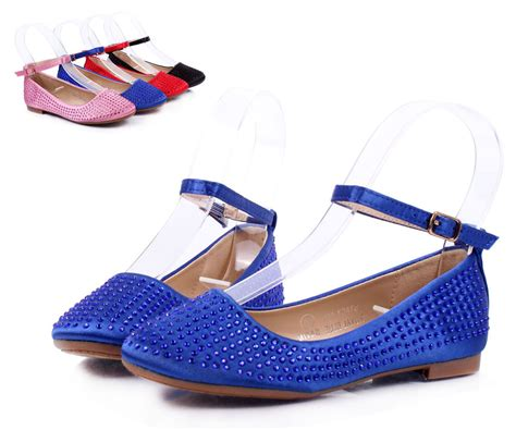 royal blue toddler ankle princess flat