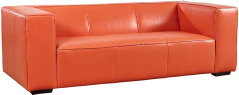 tangerine sofa hayden tangerine top grain leather sofa from lazzaro