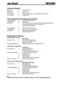 Powerline Technician Apprentice Sle Resume by Apprenticeship Plumbing Resume Sales Apprentice Lewesmr