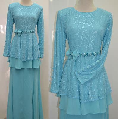 Baju Lace Biru tentang quot ina quot kurung moden hiflora design terkini
