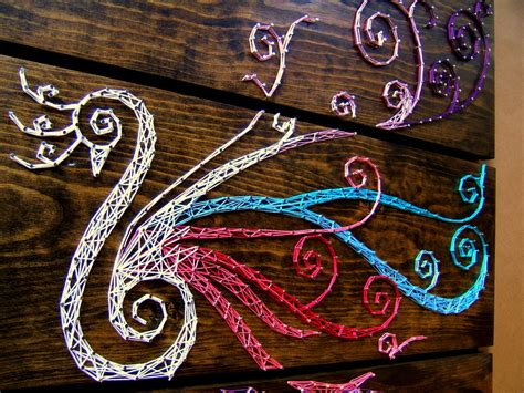 String Peacock Pattern - large peacock string tablets set of 3 boards 30