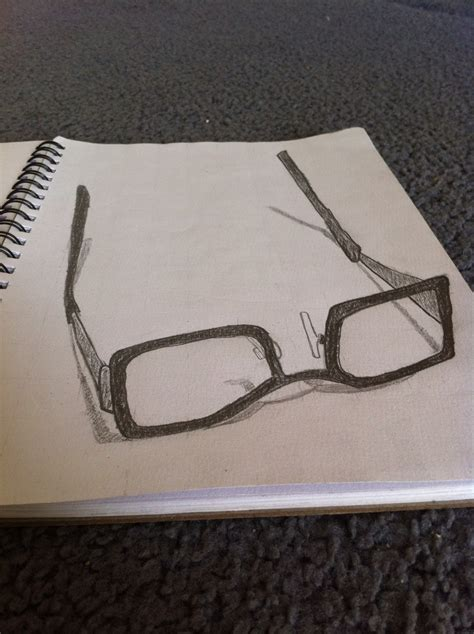 Sketches 3d by 3d Sketch Of My Glasses 3d