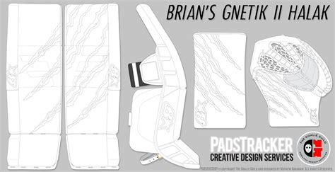 hockey pads coloring pages pads glove templates the goalie archive