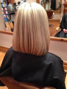 back view of mid length hair bob hair and beauty stockport cut and style hair salon