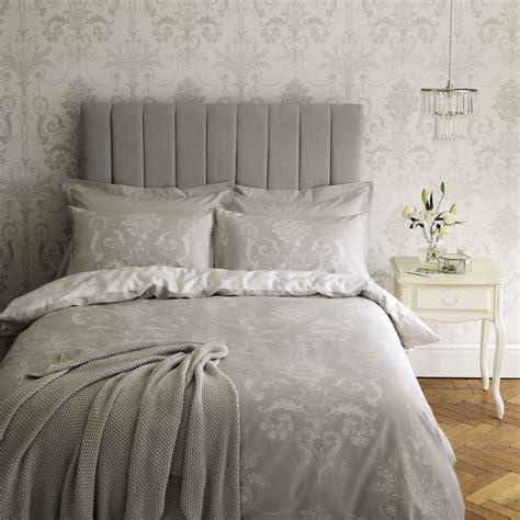 grey josette wallpaper josette cotton bedlinen with matching wallpaper laura