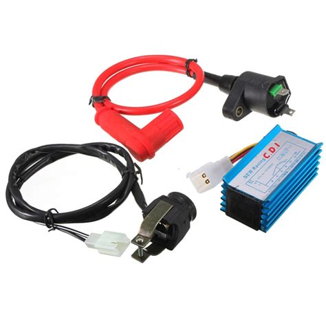 Green Cdi Ignition Coil For Pit Dirt Bike For 50cc 90cc 110cc 125cc 15 motorcycle ignition coil cdi harnes kill switch kit for 110 125cc pit dirt bike alex nld