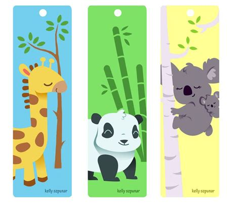 Printable Bookmarks Of Animals | animal bookmarks by knackful deviantart com on deviantart