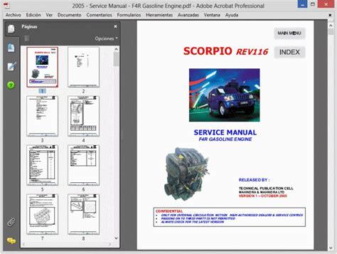 mahindra scorpio workshop service repair manual wiring