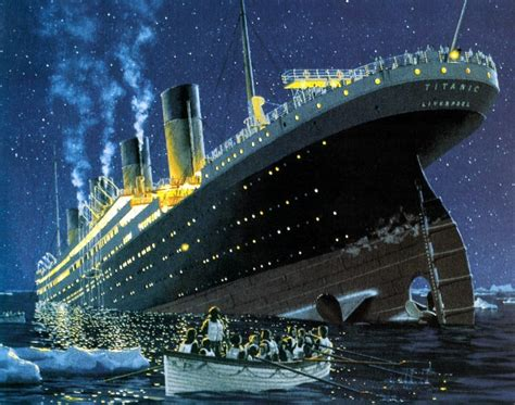 Titanic Sinking Spot by Oceanic Steam Navigation Spot Paintings Of The Titanic