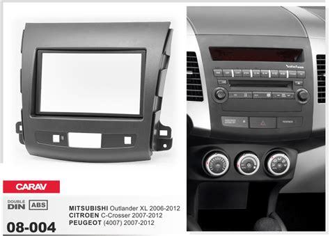 jiuscan car stereo radio fascia panel for mitsubishi colt colt plus 2004 2012 right side radio carav 08 004 radio fascia for outlander xl c crosser 4007 dash cd trim kit ebay