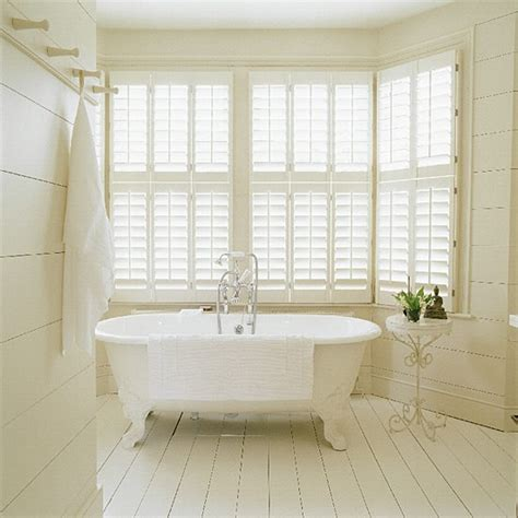 shutters in bathroom white bathroom with shutters and freestanding bath