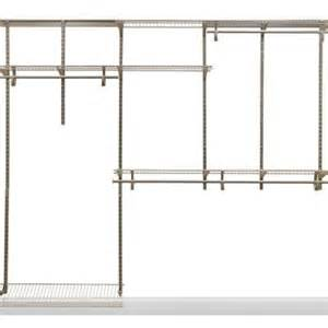 home depot closet organizer closetmaid shelftrack 5 ft 8 ft nickel closet