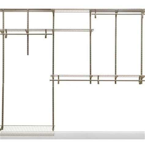 Home Depot Closet Organizer Kits by Closetmaid Shelftrack 5 Ft 8 Ft Nickel Closet