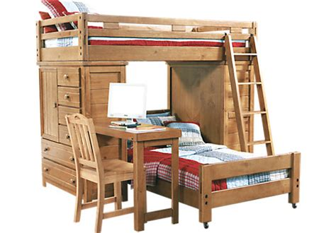 Bunk Bed W Desk Picture Of Creekside Taffy Student Loft Bed W Desk With Chests From Beds Furniture