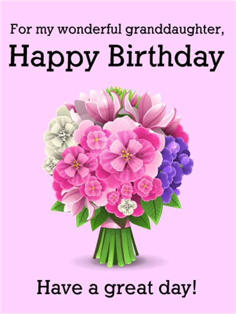 imagenes happy birthday granddaughter for my wonderful granddaughter happy birthday card