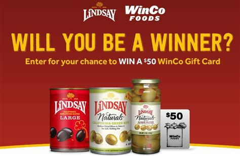 Winco Gift Cards - fun and flavor and fifty dollar winco foods gift cards sweepstakes mumblebee inc