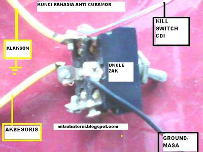 Pasang Alarm Motor Anti Maling solusi battery cara mudah buat kunci rahasia motor anti