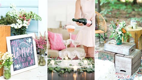 bridal shower decorations diy wedding shower theme ideas