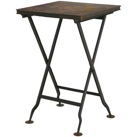 Table With Folding Sides Folding Pagoda Side Table Handpainted Oka