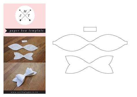 3d Bow Template best photos of 3d printable paper bow template bow tie pattern template paper bow template